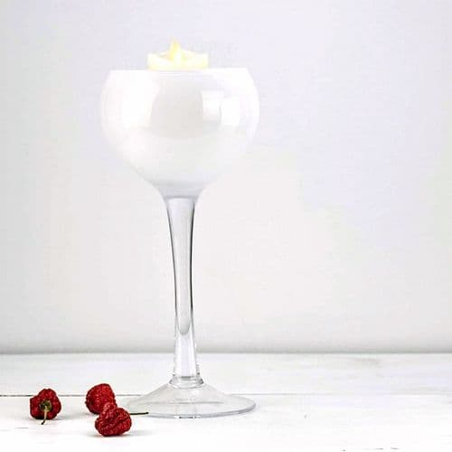 Glass Candle Holder White 28cm