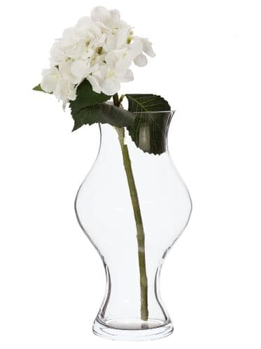 Glass Flower Curvy Vase 35cm
