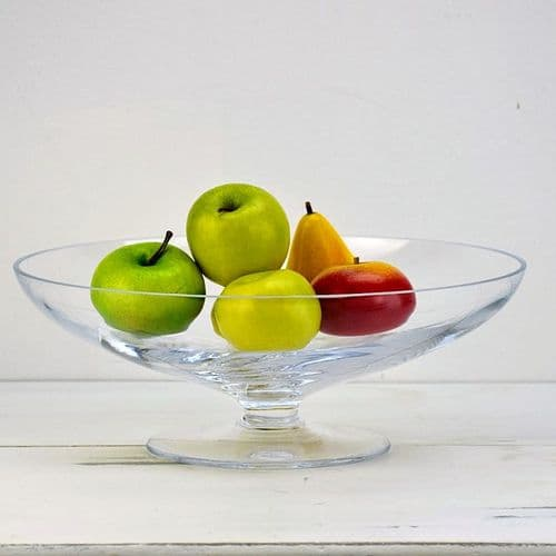 Glass Trifle Wide Bowl 32cm