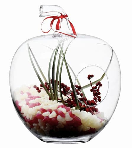 Large Glass Apple Jar 37cm – Spring Home Décor Gifts by Solavia