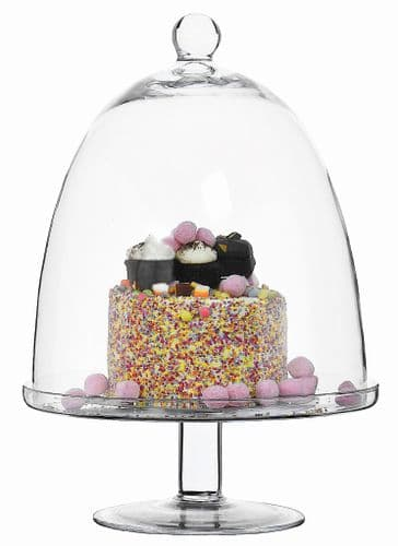 Large Glass Bell Cake Dome & Stand 45cm