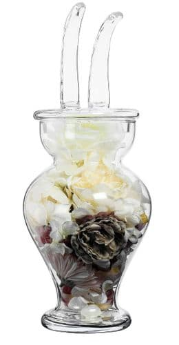 Large Glass Ears Sweet Jar 52cm  Solavia Glassware Easter Giftware