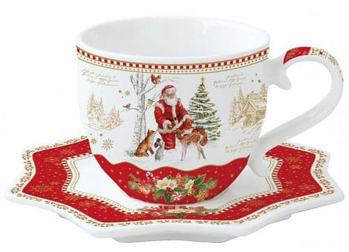 Luxury Porcelain Cup & Saucer Set
