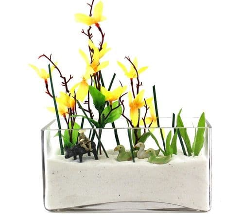 Rectangular Vase Glass Trough 30cm
