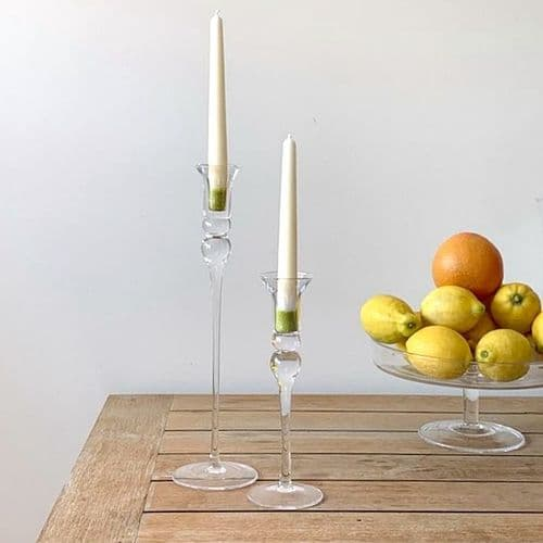 Tall Curved Candlestick Set of 2