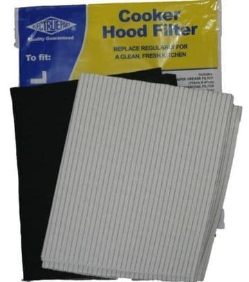 COOKER HOOD GREASE & CARBON FILTER KIT FOR EXTRACTOR FAN VENT