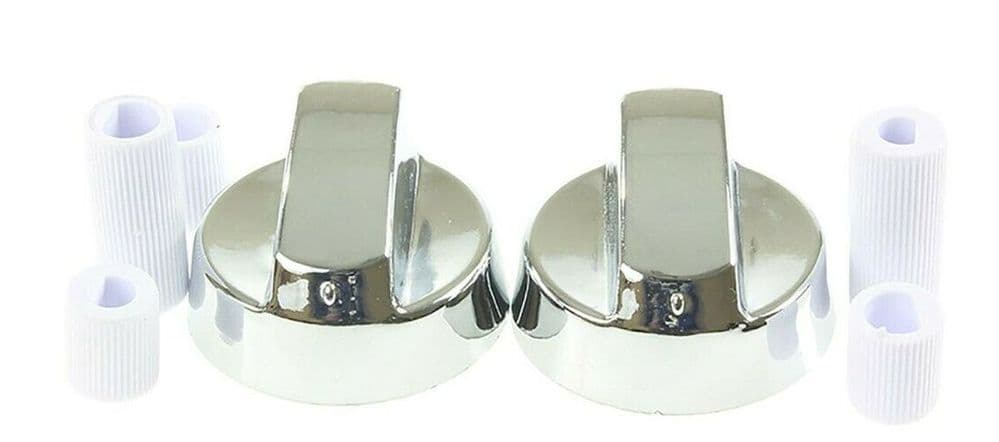 FITS STOVES NEW WORLD SILVER OVEN COOKER HOB KNOB SWITCH x 2 PACK 082625731
