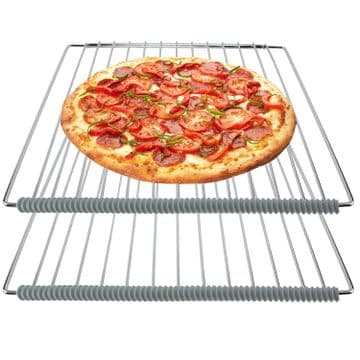 OVEN COOKER SHELF TRAY BURN GUARD HEAT RESISTANT SILICONE STRIPS X 4