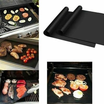 REUSABLE NON STICK LINER IDEAL FOR OVENS GRILL PANS OVEN TRAYS BBQ ROASTING x 2
