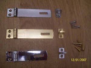 Brass Chrome Hasp And Staple 2 1/2