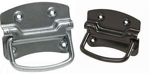 HEAVY DUTY CHEST HANDLES IN ZINC AND BLACK +SCREWS