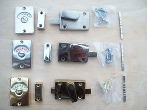 In 3 Finishes Wc Vacant Engaged Toilet Bathroom Door Lock Indicator Bolts
