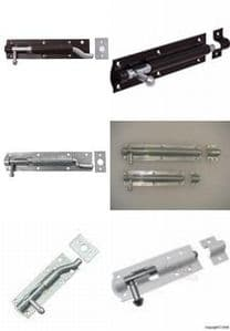 Quality Tower Door Bolts  Choice Of Size/colour/type