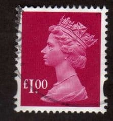 £1.00 'MAGENTA' FINE USED