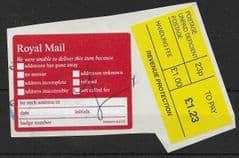 £1.23 TO PAY REVENUE PROTECTION 'DEFICIENT' + P3960/97/302543 LABELS