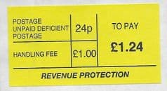 £1.24 TO PAY  'DEFICIENT' LABEL