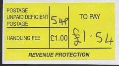£1.54 TO PAY  'DEFICIENT' LABEL