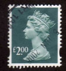 £2.00 'DEEP BLUE GREEN' FINE USED