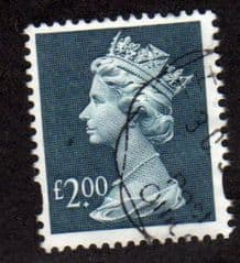 £2.00 'DULL BLUE' FINE USED