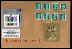 2014 SD1 (Y 4) 'WELSH TYPE 3' (11.02.14 FIRST DAY OF ISSUE) WITH 8 X 68P DEEP TURQUOISE GREEN (M12L) ON COVER