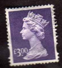 £3.00 'DULL VIOLET' FINE USED