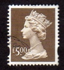 £5.00 'BROWN' FINE USED