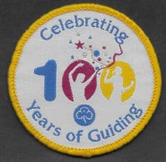 'CELEBRATING 100 YEARS OF GUIDING' BADGE