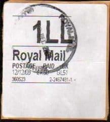 12/12/08 '1LL' WHITE HORIZON LABEL(THICK FONT) (GL51)