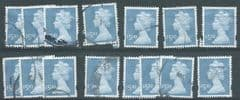 15X  £5.00 'AZURE MACHINS'  (SECONDS -ALL HAVE SMALL FLAWS)