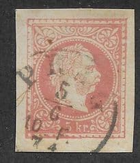 1874 5KR 'AUSTRIAN CUT OUT' FINE USED
