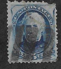 1875 5c 'GEN. Z TAYLOR' FINE USED*