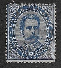 1889 25c 'KING UMBERTO I ' FINE USED*