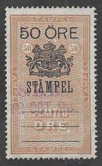 1894  50o 'FISCAL- SWEDISH' FINE USED *