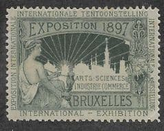 1897 U/M  'BRUSSELS INTERNATIONAL EXHIBITION' LABEL *