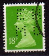18P 'BRIGHT GREEN' (E.H.M.C) FINE USED