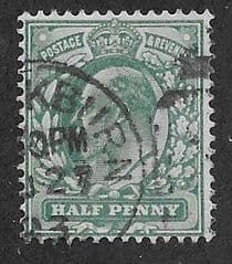 1902 1/2d 'BLUE GREEN' FINE USED