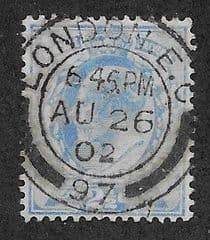 1902 2 .5d 'ULTRAMARINE' FINE USED