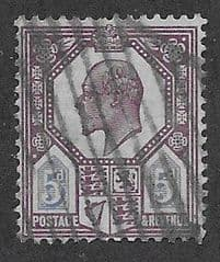 1902 5d DULL PURPLE AND ULTRAMARINE' FINE USED