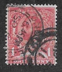 1911 1d 'CARMINE (TYPE A) FINE USED