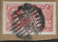1918 5s 'SEAHORSE' FINE USED ON PAPER