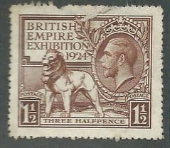 1924 1.5d 'BRITISH EMPIRE EXHIBITION' FINE USED*