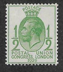 1929 U/M 1/2d 'PUC'