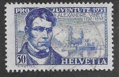 1931 30c 'ALEXANDRE VINET  FINE USED*