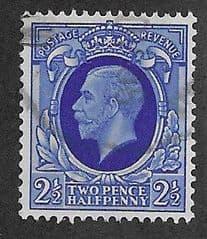 1934 2.5d 'BRIGHT BLUE' FINE USED