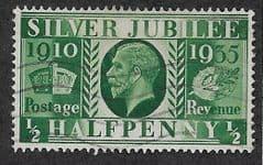 1935 0.5d 'SILVER JUBILEE'  FINE USED
