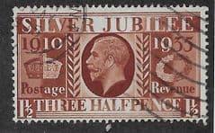 1935 1.5d 'SILVER JUBILEE' FINE USED