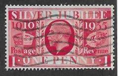 1935 1d 'SILVER JUBILEE' FINE USED