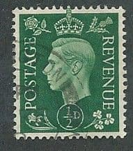 1937 1/2d 'GREEN' FINE USED