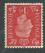 1937 1d 'SCARLET' ( WATERMARK INVERTED) FINE USED
