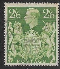 1939 2sh 6d 'YELLOW- GREEN ' FINE USED